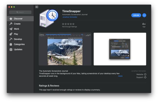TimeSnapper in the Mac App Store